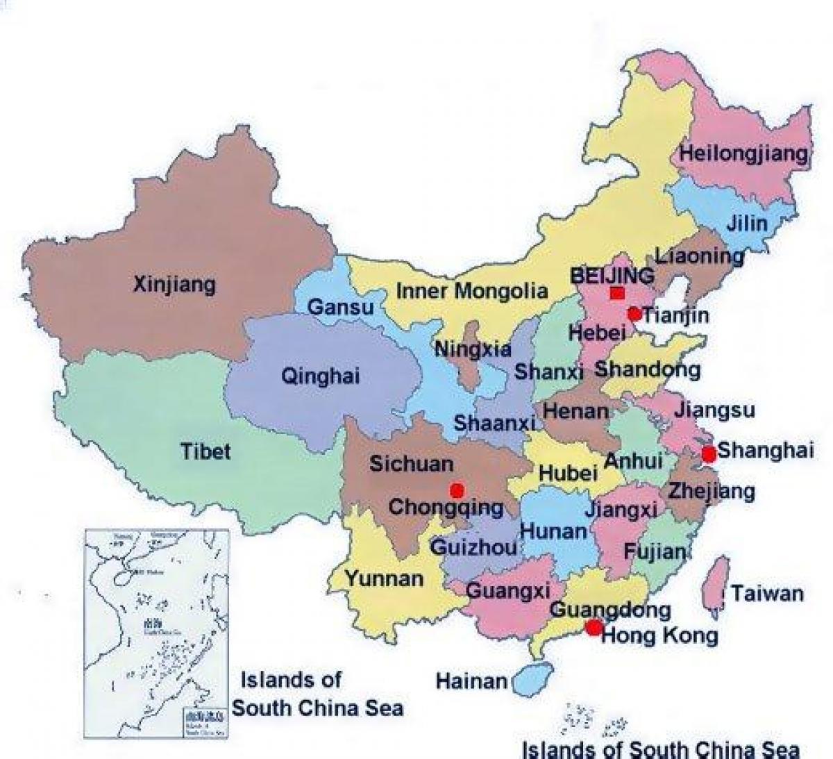 China Peta Image Gambar Asia Timur Tenggara Kosong